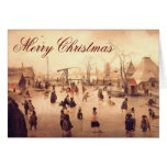 Ice Scene ~ Vintage Christmas Card
