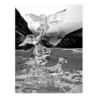 Ice sculpture at Lake Louise Alberta Canada Postcard