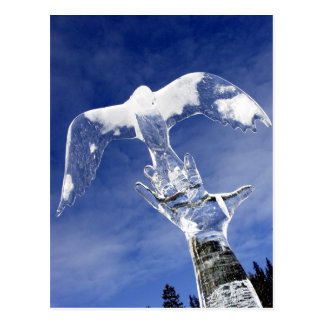 Ice sculpture at Lake Louise Alberta Canada Post Card