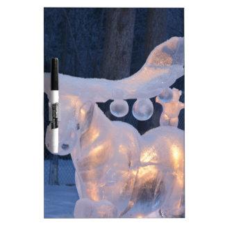 Ice Sculpture Snow Frozen Winter Seasons Weather Dry Erase Board