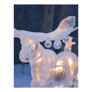 Ice Sculpture Snow Frozen Winter Seasons Weather Letterhead