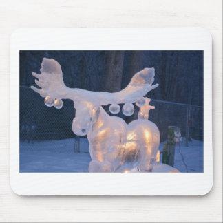 Ice Sculpture Snow Frozen Winter Seasons Weather Mouse Pad