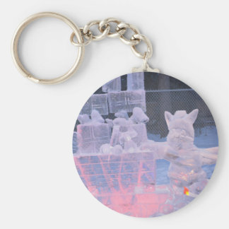 Ice Sculpture Sporting Artist Carving Arctic Gifts Keychain