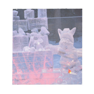 Ice Sculpture Sporting Artist Carving Arctic Gifts Memo Pads