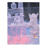 Ice Sculpture Sporting Artist Carving Arctic Gifts Post Card