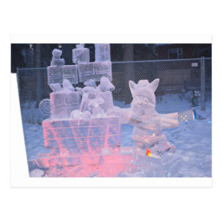 Ice Sculpture Sporting Artist Carving Arctic Gifts Postcard