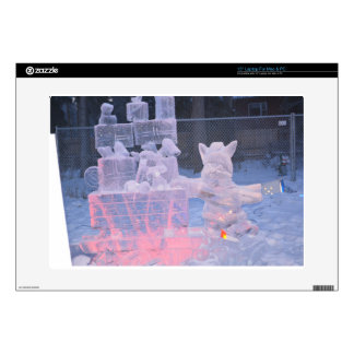 Ice Sculpture Sporting Artist Carving Arctic Gifts Skin For Laptop