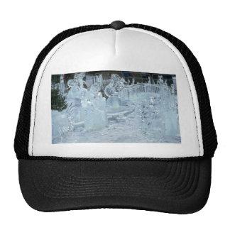 Ice sculptures mesh hats