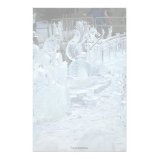 Ice sculptures stationery