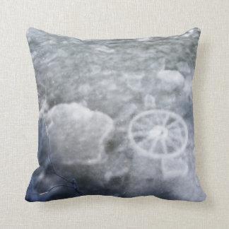 Ice Shadows Throw Pillow