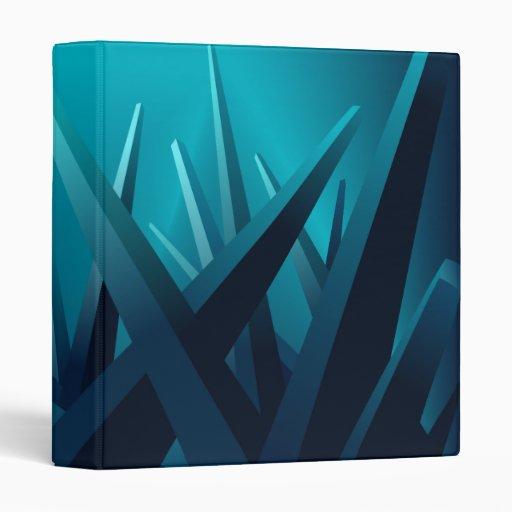 Ice Shards 3 Ring Binders