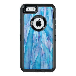Ice Shards Blue Watercolor Otterbox Case