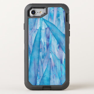 Ice Shards Blue Watercolor Otterbox OtterBox Defender iPhone 8/7 Case