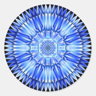 Ice Shards Mandala Classic Round Sticker