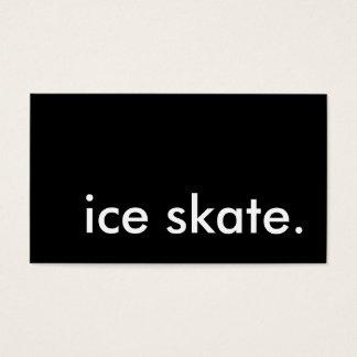 ice skate. business card