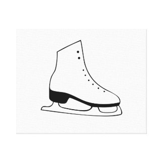 Ice Skate Stretched Canvas Print