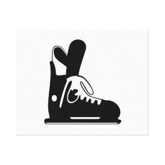 Ice Skate Gallery Wrapped Canvas