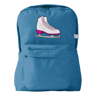 Ice Skate in Pink Backpack