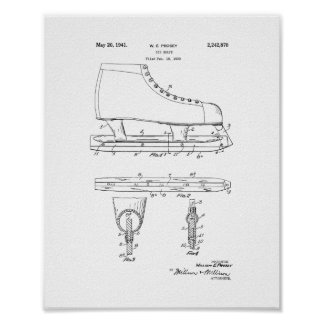 Ice Skate Patent Poster
