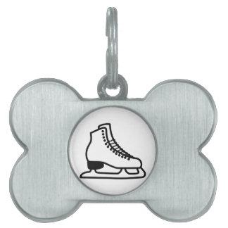 Ice Skate Pet Tag