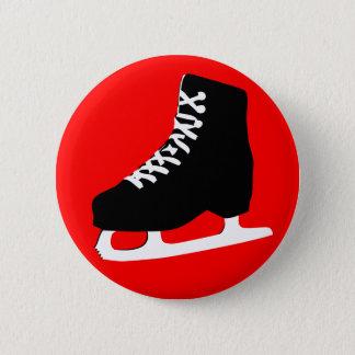 ice skate pinback button