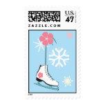 Ice Skate Postage Stamp