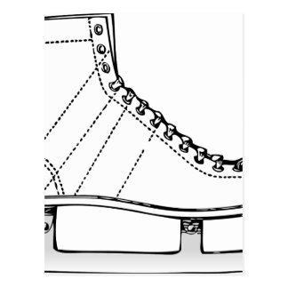Ice Skate Postcard