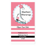 Ice Skate Profile Card2 Double-Sided Standard Business Cards (Pack Of 100)