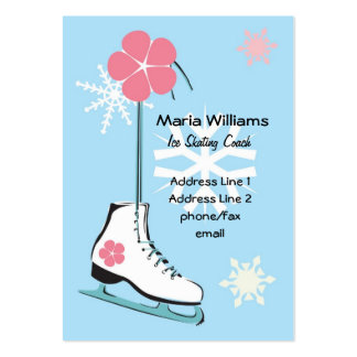 Ice Skate Profile Card Business Card Templates