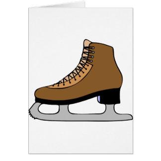 Ice Skate Shoe Card