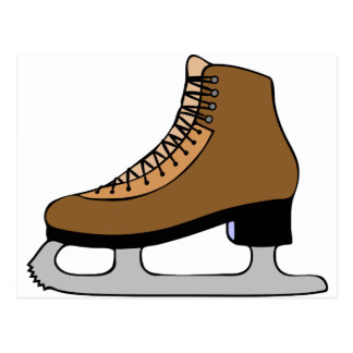 Ice Skate Shoe Postcard