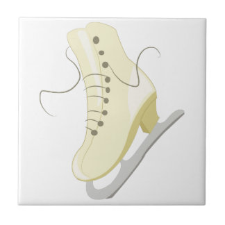 Ice Skate Small Square Tile