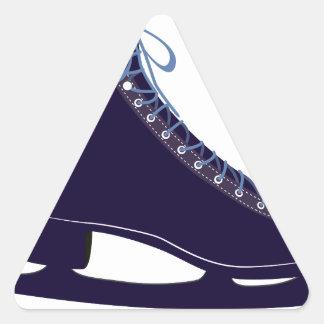 Ice skate triangle sticker