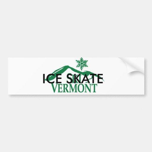 Ice Skate Vermont Car Bumper Sticker