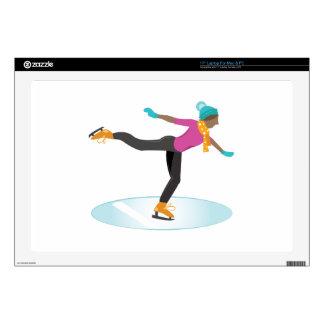 "Ice Skater 17"" Laptop Skins"
