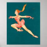 Ice Skater Ballerina Poster