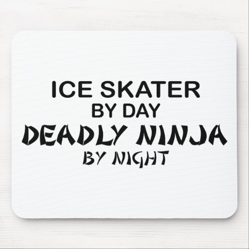 Ice Skater Deadly Ninja by Night Mouse Mats