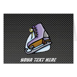 Ice Skater; Faux Carbon Fiber Card