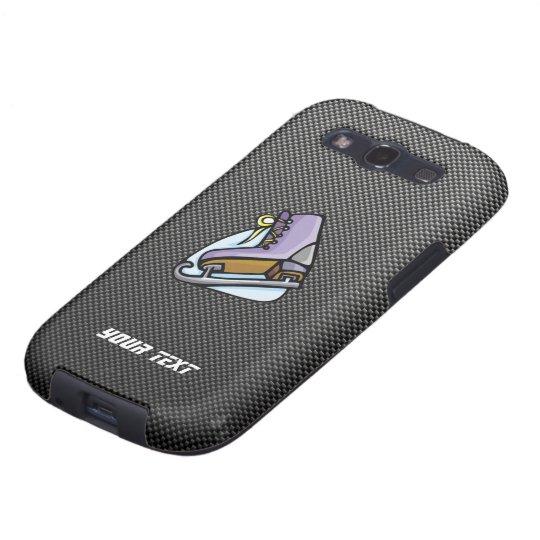 Ice Skater; Faux Carbon Fiber Galaxy S3 Case