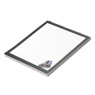 Ice Skater; Faux Carbon Fiber Memo Notepad