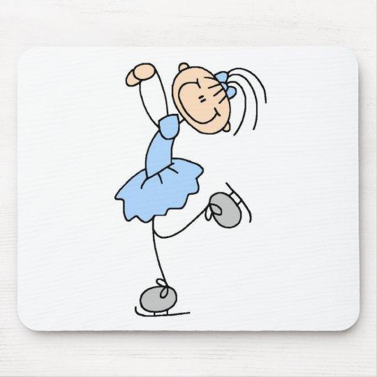 Ice Skater Girl In Blue Mousepad