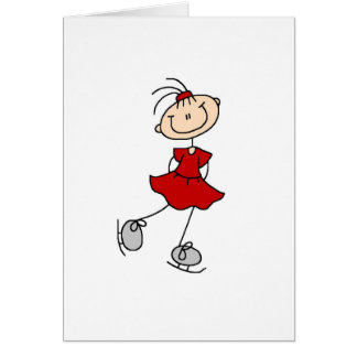 Ice Skater Girl In Red Card