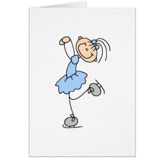 Ice Skater In Blue Card