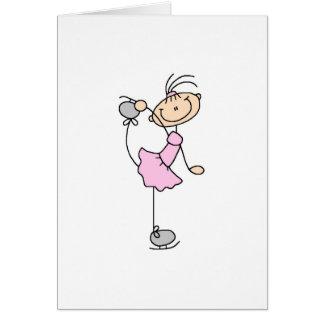 Ice Skater In Pink Card