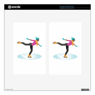 Ice Skater Kindle Fire Decal