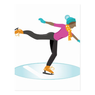 Ice Skater Postcard