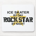 Ice Skater Rock Star by Night Mouse Pad