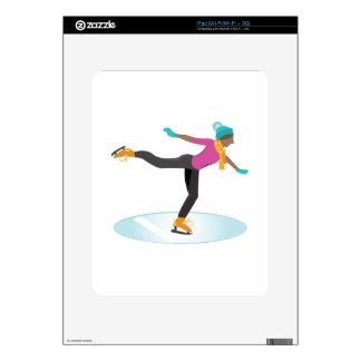 Ice Skater Skin For iPad
