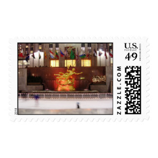 Ice Skaters at Rockefeller Center Postage