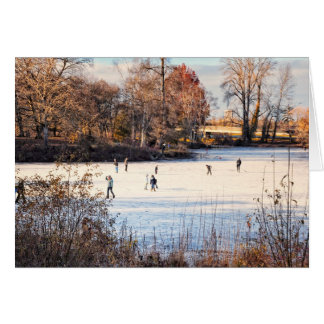 Ice Skaters Greeting Card